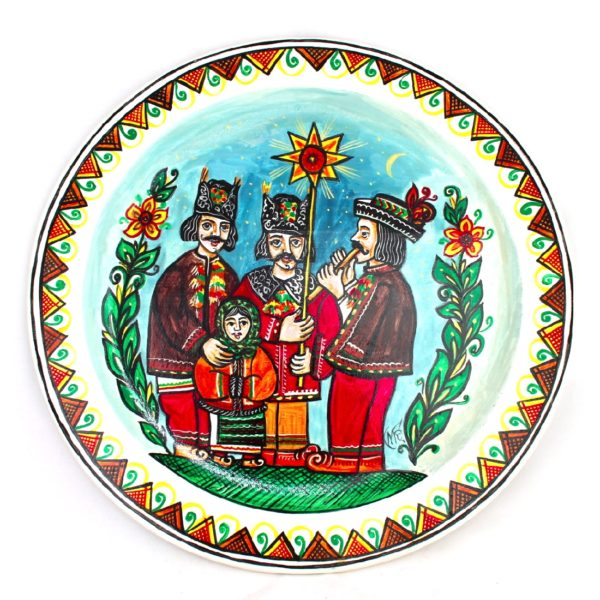 Decorative Hand Painted Wooden Wall Plate Christmas Star 111001-1