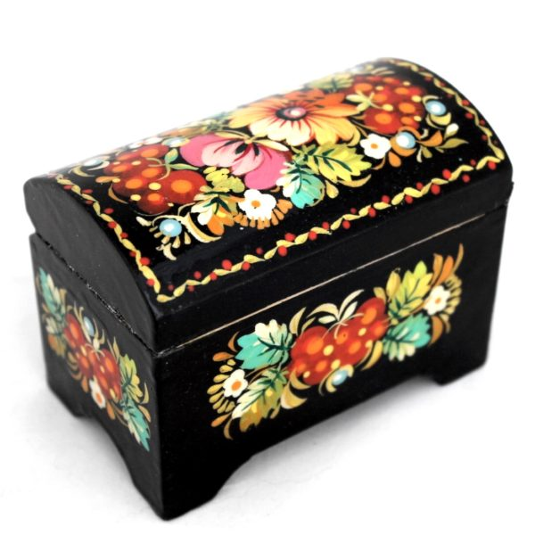 Decorative Hand Painted Wooden Chest Petrykivka Style 4 40908-1