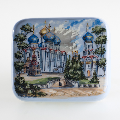 Russian Lacquer Box Mother-of-the-Pearl Panoramic 51707 2